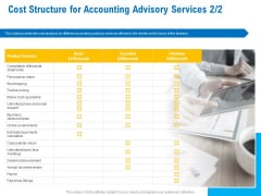 Business Service Provider Cost Structure For Accounting Advisory Services Return Information PDF