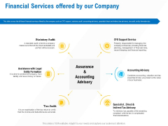 Business Service Provider Financial Services Offered By Our Company Brochure PDF