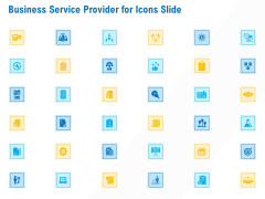 Business Service Provider For Icons Slide Download PDF