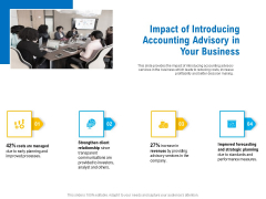 Business Service Provider Impact Of Introducing Accounting Advisory In Your Business Diagrams PDF
