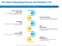 Business Service Provider Our Client Onboarding Process And Checklist Apps Background PDF