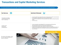 Business Service Provider Transactions And Capital Marketing Services Brochure PDF