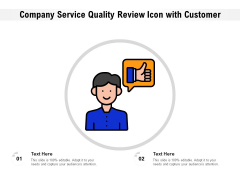 Business Service Quality Feedback Icon With Consumer Ppt PowerPoint Presentation File Picture PDF