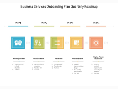 Business Services Onboarding Plan Quarterly Roadmap Professional