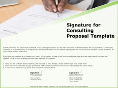 Business Signature For Consulting Proposal Template Ppt Model Deck PDF