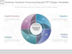 Business Solutions Financing Example Ppt Design Templates