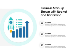 Business Start Up Shown With Rocket And Bar Graph Ppt PowerPoint Presentation File Ideas PDF