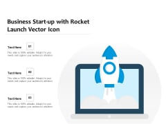 Business Start Up With Rocket Launch Vector Icon Ppt PowerPoint Presentation Gallery Pictures PDF