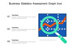 Business Statistics Assessment Graph Icon Ppt PowerPoint Presentation Slides Background Images PDF