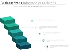Business Steps Diagram With Icons Powerpoint Slides