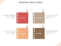 Business Sticky Notes Ppt PowerPoint Presentation Slide