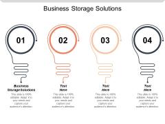Business Storage Solutions Ppt PowerPoint Presentation Inspiration Smartart Cpb