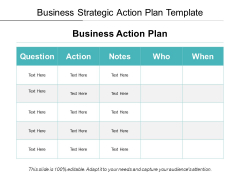 Business Strategic Action Plan Template Ppt PowerPoint Presentation File Inspiration PDF
