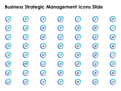 Business Strategic Management Icons Slide Ppt PowerPoint Presentation Professional Visuals