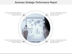 Business Strategic Performance Report Ppt Powerpoint Presentation Show Background Image