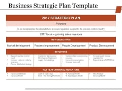 Business Strategic Plan Template Ppt PowerPoint Presentation Pictures Model