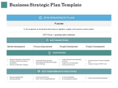 Business Strategies Business Strategic Plan Template Ppt Gallery Vector PDF