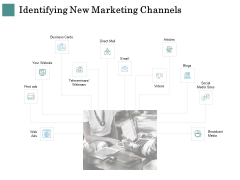 Business Strategies Identifying New Marketing Channels Ppt Outline Graphic Images PDF