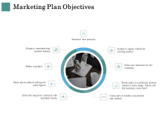 Business Strategies Marketing Plan Objectives Ppt Slides Picture PDF