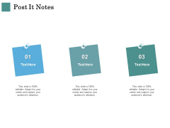 Business Strategies Post It Notes Ppt Icon Deck PDF