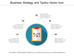 Business Strategy And Tactics Vector Icon Ppt PowerPoint Presentation Background Images PDF