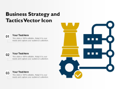 Business Strategy And Tactics Vector Icon Ppt PowerPoint Presentation Gallery Slides PDF