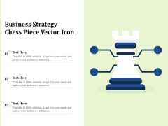 Business Strategy Chess Piece Vector Icon Ppt PowerPoint Presentation Gallery Icon PDF