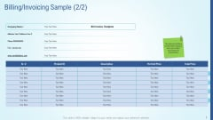 Business Strategy Development Process Billing Invoicing Sample Product Demonstration PDF