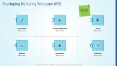 Business Strategy Development Process Developing Marketing Strategies Flyers Mockup PDF