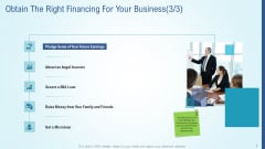 Business Strategy Development Process Obtain The Right Financing For Your Business Gride Designs PDF