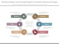 Business Strategy Layout Sample Diagram Presentation Background Images