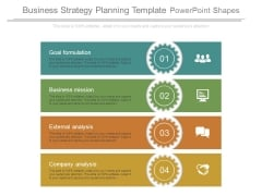 Business Strategy Planning Template Powerpoint Shapes