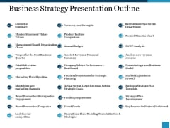Business Strategy Presentation Outline Ppt PowerPoint Presentation Styles Skills