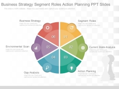 Business Strategy Segment Roles Action Planning Ppt Slides