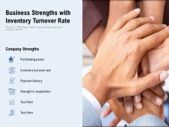 Business Strengths With Inventory Turnover Rate Ppt PowerPoint Presentation Model Styles PDF
