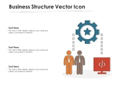 Business Structure Vector Icon Ppt PowerPoint Presentation Gallery Background PDF