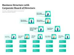 Business Structure With Corporate Board Of Directors Ppt PowerPoint Presentation File Topics PDF
