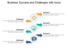 Business Success And Challenges With Icons Ppt PowerPoint Presentation Inspiration Objects
