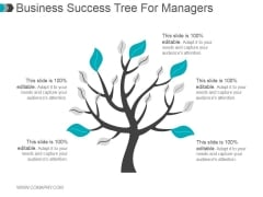 Business Success Tree For Managers Ppt PowerPoint Presentation Introduction