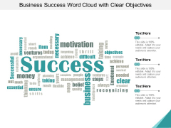 Business Success Word Cloud With Clear Objectives Ppt Powerpoint Presentation Infographic Template Backgrounds