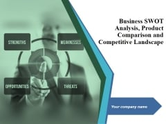 Business Swot Analysis Product Comparison And Competitive Landscape Ppt PowerPoint Presentation Complete Deck With Slides