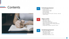 Business Synergies Contents Ppt Summary Vector PDF