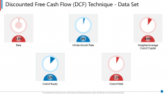 Business Synergies Discounted Free Cash Flow DCF Technique Data Set Ppt Icon Vector PDF