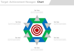 Business Target Achievement Hexagon Chart Powerpoint Slides