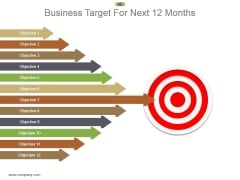 Business Target For Next 12 Months Powerpoint Graphics