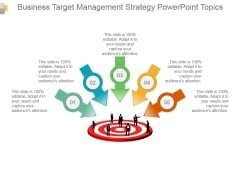 Business Target Management Strategy Powerpoint Topics