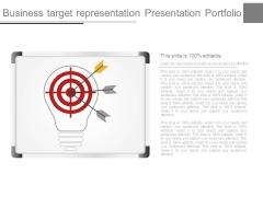 Business Target Representation Presentation Portfolio