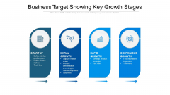 Business Target Showing Key Growth Stages Ppt PowerPoint Presentation Gallery Files PDF