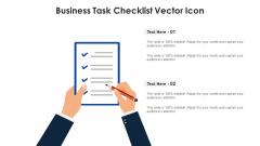 Business Task Checklist Vector Icon Template PDF