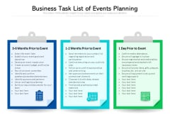 Business Task List Of Events Planning Ppt PowerPoint Presentation Show Picture PDF